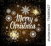 merry christmas background... | Shutterstock .eps vector #756880627
