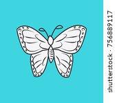 beautiful butterfly drawing | Shutterstock .eps vector #756889117
