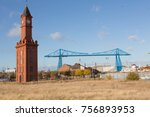 the historic clock tower on the ... | Shutterstock . vector #756893953