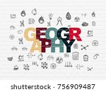 science concept  painted... | Shutterstock . vector #756909487
