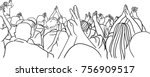 vector art drawing of concert... | Shutterstock .eps vector #756909517