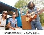 summer holidays  road trip ... | Shutterstock . vector #756921313