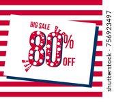 sale banner template design ... | Shutterstock .eps vector #756923497