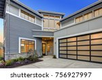 excellent curb appeal of a... | Shutterstock . vector #756927997