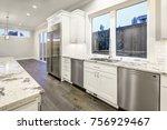 large  spacious kitchen design... | Shutterstock . vector #756929467