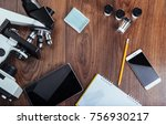 microscope image notebook and... | Shutterstock . vector #756930217