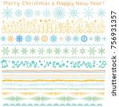 borders  ribbons  brush strokes ... | Shutterstock .eps vector #756931357