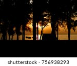 camping tent sunset  background ... | Shutterstock . vector #756938293