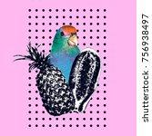 art collage minimal flyer... | Shutterstock . vector #756938497