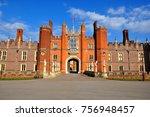 hampton court palace  london ... | Shutterstock . vector #756948457