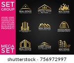 mega set and big group  real... | Shutterstock .eps vector #756972997