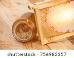 Honey Comb With Honey Made Fro...