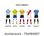 mockup of south america... | Shutterstock .eps vector #756984007