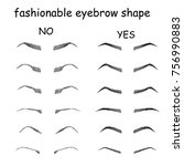 right and wrong eyeliner and... | Shutterstock .eps vector #756990883