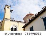 the aristocratic plaka district ...   Shutterstock . vector #756998083
