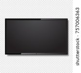 realistic blank led tv screen... | Shutterstock .eps vector #757006363