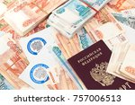 Small photo of Russian tax letters, passport and large sum of money