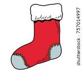 christmas boot pop art