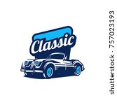 classic car logo  classic car... | Shutterstock .eps vector #757023193