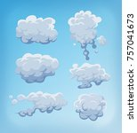 smoke  fog and clouds set on... | Shutterstock .eps vector #757041673