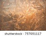 beautiful closeup winter window ...   Shutterstock . vector #757051117
