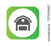 isolated barn icon symbol on... | Shutterstock .eps vector #757055407