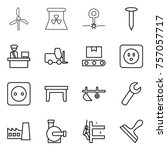 thin line icon set   windmill ... | Shutterstock .eps vector #757057717