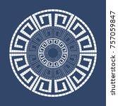 greek style ornamental... | Shutterstock .eps vector #757059847