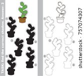 funny cactus to find the... | Shutterstock .eps vector #757074307