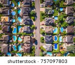 top view of houses in typical... | Shutterstock . vector #757097803
