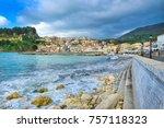 greece  lefkada  landscape with ... | Shutterstock . vector #757118323