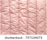 pale pink striped quilted...   Shutterstock . vector #757134073