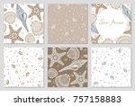 set of hand drawn vector...   Shutterstock .eps vector #757158883
