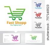 fast shop service logo | Shutterstock .eps vector #757160023