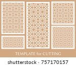 decorative panels set for laser ... | Shutterstock .eps vector #757170157
