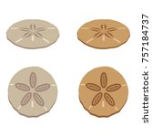 a set of sand dollar icons | Shutterstock .eps vector #757184737