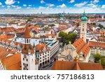 aerial view of munich in a... | Shutterstock . vector #757186813