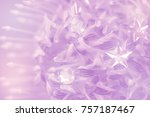 flower on soft pastel color in... | Shutterstock . vector #757187467