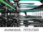 abstract dynamic interior with...   Shutterstock . vector #757217263