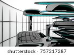 abstract dynamic interior with...   Shutterstock . vector #757217287