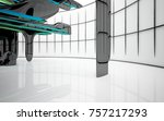 abstract dynamic interior with...   Shutterstock . vector #757217293