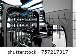 abstract dynamic interior with...   Shutterstock . vector #757217317