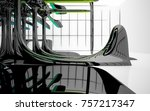 abstract dynamic interior with...   Shutterstock . vector #757217347