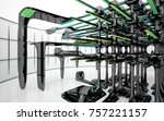 abstract dynamic interior with...   Shutterstock . vector #757221157