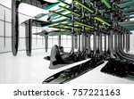 abstract dynamic interior with...   Shutterstock . vector #757221163