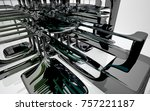 abstract dynamic interior with...   Shutterstock . vector #757221187