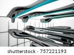 abstract dynamic interior with...   Shutterstock . vector #757221193