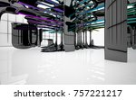 abstract dynamic interior with...   Shutterstock . vector #757221217