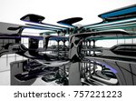 abstract dynamic interior with...   Shutterstock . vector #757221223