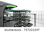 abstract dynamic interior with...   Shutterstock . vector #757221247